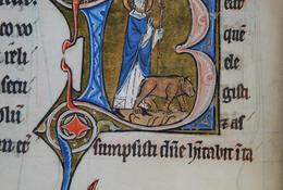 Saint Vaast et l'ours  XIIIe siècle - Médiathèque d'Arras