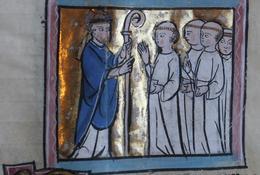 Saint Aubert et la communauté monastique XIIIe siècle - Médiathèque d'Arras
